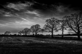 Nutfield clouds B&W